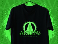 Illustration_Green Arrow T-Shirt Design