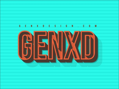 Illustration_GENXD Typography
