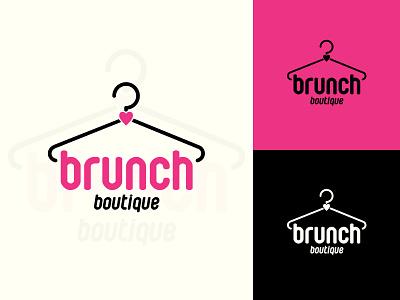 Illustration_Brunch Logo clothing brand apperal digital art illustration design logo design pink logo boutique logo adobe photoshop typography logo designoftheday illustration art branding vector creative illustration design