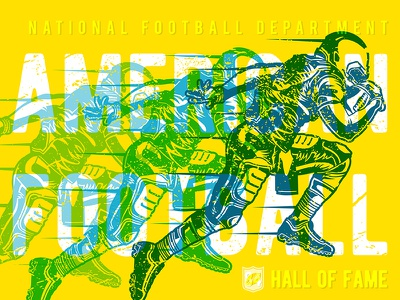 Illustration_Over Print Effect Of Afc vector type design sporty sports design soccer rugby overprint illustration design illustration art illustraion hall of fame football designoftheday design creative club american adobe action sports