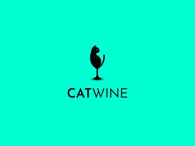 Cat Wine Logo creative idea minimalist logo creative logo