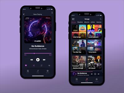 Music player app Ui 009 ui design 009 musician music app music player music dailyuichallenge dailyui 100daychallenge