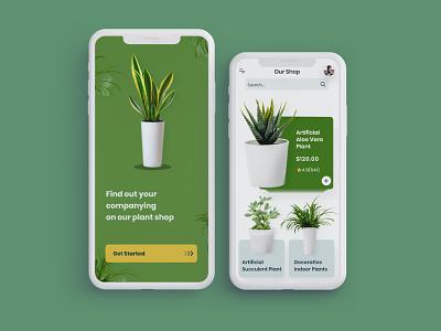 Plant Shop dailyui flower app app uidesign plant shop flowershop flowers green plant app plant uiux ui 100daychallenge
