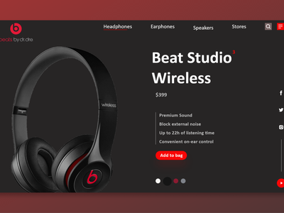 Beats web ui music website music web music player dailyui uiux dailyuichallenge beats beats by dre music 100daychallenge