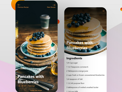 Food Recipe foodie day40 food recipes food app food recipe food 040 ui ui design dailyuichallenge uiux dailyui 100daychallenge