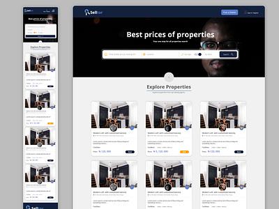 Real Estate website design design landingpage ui design adobe xd real estate
