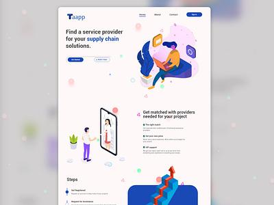 Landing page design website design branding ui tailwindcss adobe xd landingpage
