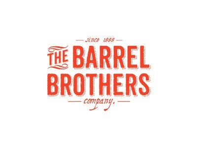 The Barrel Brothers - final logo  logo the old vintage typo typographic orange company since