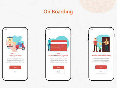 Delivery Application Onboarding uxdesign uiux xd design adobe xd adobe illustrator delivery app delivery ui design mobile ui onboarding illustraion app
