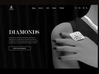 Jewelry Website elegant design elegant xd design jewelries jewels diamonds diamond luxury white black jewelry