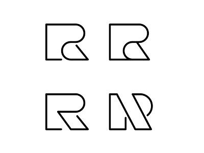 R Logo letterform logo identity