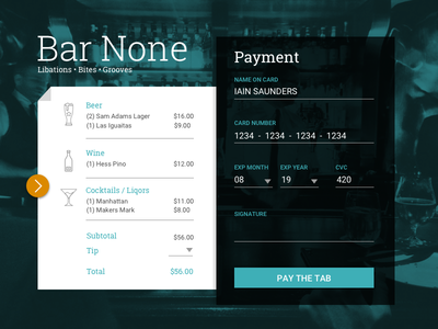 Credit Card Checkout payment dailyui 002