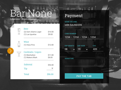 Bar None 2 alternative payment dailyui 002