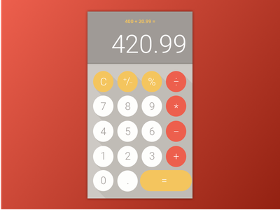 Calculator - Daily UI #004 004 dailyui