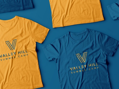 Valley Hill Summer Camp apparel identity logo