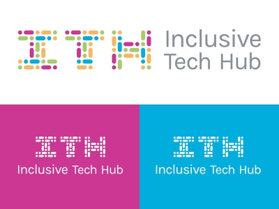 Inclusive Tech Hub Logo branding design identity logo
