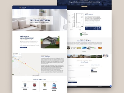Home Builder Web UI scrolling site landing page homepage website design website web design web ui design ui