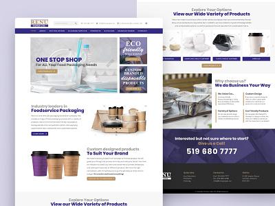 eCommerce Web UI landing page website design website web design web ui design ui ecommerce