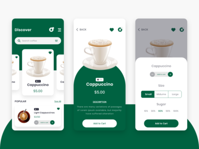 Coffee Delivery App UI
