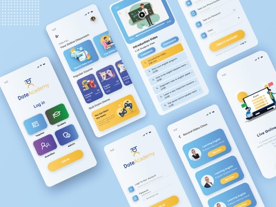 E Learning Education App uiux ui design light theme ui app uxdesign uidesign design