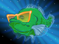 Space Fish - Cool Glasses