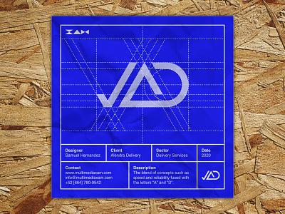 Logo Blueprint Series | Alendra Delivery graphic design typography icon vector branding logo illustration design