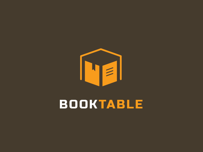 BookTable logo design mark art logotype symbol identity negative space book table education school