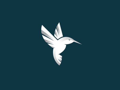 Hummingbird icon identity illustration symbol logotype art mark design logo hummingbird bird