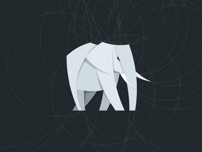 Elephant animal symbol logotype art flat design paper illustration mark identity logo elephant