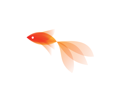 Goldfish icon animal logotype illustration identity symbol mark design logo fish goldfish