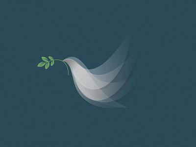 Dove bird dove logo design mark symbol identity illustration logotype animal icon