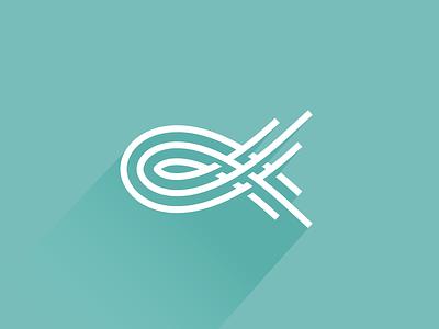 Fish line fish logo design mark symbol identity illustration logotype animal icon