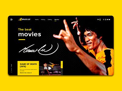 Bruce Lee • Website Concept • Tribute concept design design landingdesign landing page landing page ui websiteconcept web ui ux