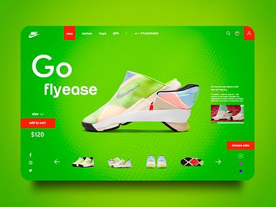 Website Concept Nike concept design design landingdesign landing page landing page ui websiteconcept web ui ux