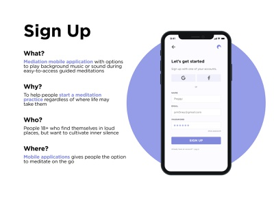 Sign up page meditate sign up dailyui