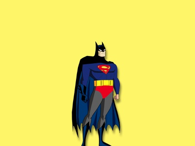 superbat superhero hero superman batman collage art collage minimal artwork creative vector art photoshop illustrator illustration design animation
