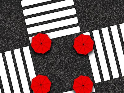 pass create recreate umbrella real minimalism artwork branding vector creative minimal photoshop illustrator illustration design animation