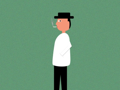 cigarette character animation characterdesign character somke man cigarette cigar minimal artwork art creative vector photoshop illustrator illustration design animation