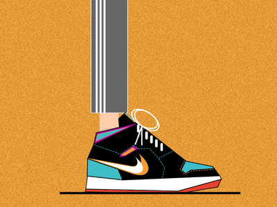Nike shoes colors art flat design flat fashion creative design shoes nike