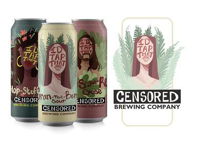 I'd Tap That! Craft Beer Can Design brand design beer branding beer label beer art beer can beer illustrator icon typography branding logo design illustration