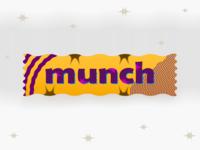 munch-my-fav-chocolate-bar munch nestle nestlemunch packaging packaging-design weeklychallenge dribbbleweeklywarmup yellow branding chocolate packaging chocolate bar chocolate vector
