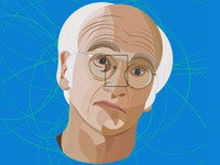 Larry David Illustration