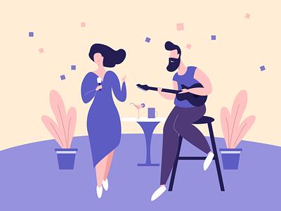 Illustration - Music tonight illustrator creativity tekono tonight musician music app music party creative minimal typography icon app illustration design