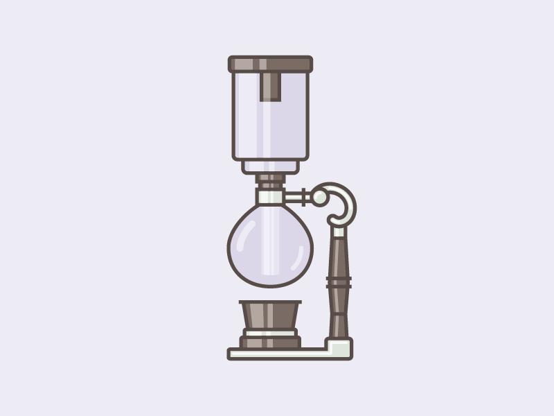 Siphon illustration vector coffee siphon craft doodle design