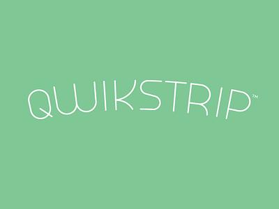 Qwikstrip flat lines thin monoline mint dental twinoaks logotype lettering branding logo