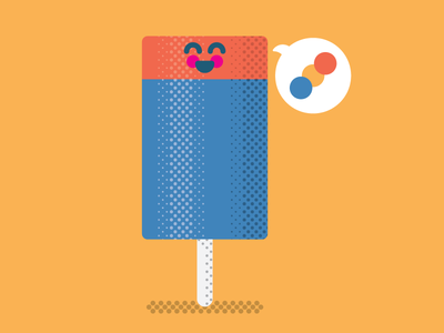 Push-Up Pop halftone push up pop summer popsicle kids retro texture illustration vector