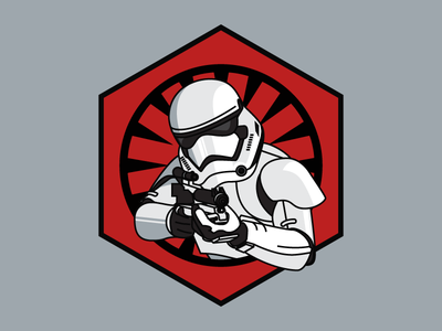 The First Order han shot first the force awakens the first order star wars clean vector illustration stormtrooper
