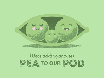 Peas in a Pod baby announcement family peas retro vector texture pod pea baby