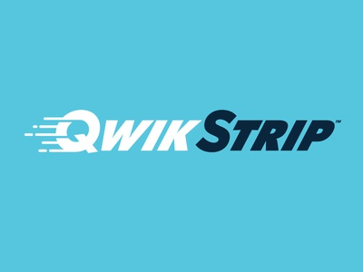 Qwikstrip 3 type logotype blue twinoaks speed dental logo branding