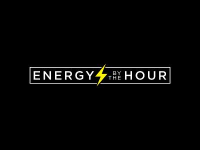 Energy By The Hour flat twinoaks logotype lightning energy logo branding
